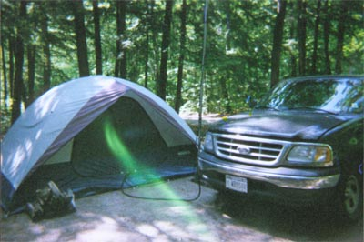 Operating from a tent on the shore of Lake Huron